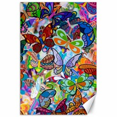 Color Butterfly Texture Canvas 20  X 30   by Simbadda