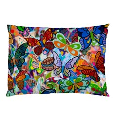 Color Butterfly Texture Pillow Case by Simbadda