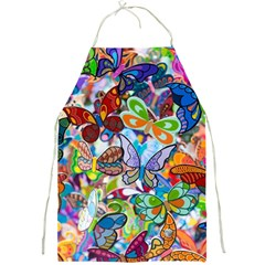 Color Butterfly Texture Full Print Aprons by Simbadda