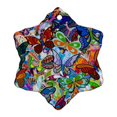 Color Butterfly Texture Ornament (snowflake) by Simbadda