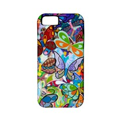 Color Butterfly Texture Apple Iphone 5 Classic Hardshell Case (pc+silicone) by Simbadda