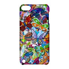 Color Butterfly Texture Apple Ipod Touch 5 Hardshell Case With Stand by Simbadda