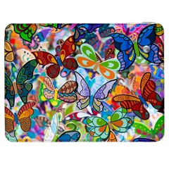 Color Butterfly Texture Samsung Galaxy Tab 7  P1000 Flip Case by Simbadda