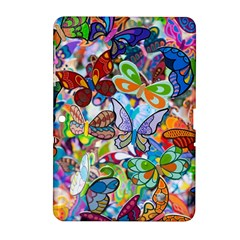 Color Butterfly Texture Samsung Galaxy Tab 2 (10 1 ) P5100 Hardshell Case  by Simbadda