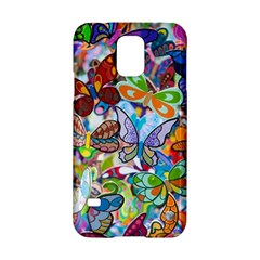 Color Butterfly Texture Samsung Galaxy S5 Hardshell Case  by Simbadda