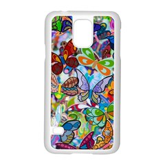 Color Butterfly Texture Samsung Galaxy S5 Case (white) by Simbadda