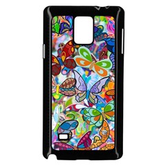 Color Butterfly Texture Samsung Galaxy Note 4 Case (black) by Simbadda