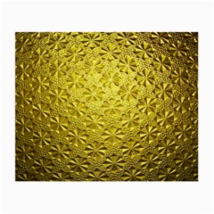 Patterns Gold Textures Small Glasses Cloth (2 Side) by Simbadda