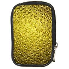 Patterns Gold Textures Compact Camera Cases by Simbadda