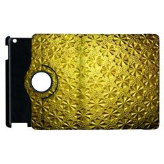 Patterns Gold Textures Apple Ipad 3/4 Flip 360 Case by Simbadda