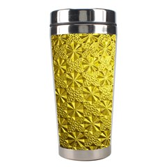 Patterns Gold Textures Stainless Steel Travel Tumblers by Simbadda