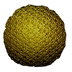 Patterns Gold Textures Large 18  Premium Flano Round Cushions by Simbadda
