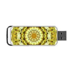 Fractal Flower Portable Usb Flash (two Sides) by Simbadda