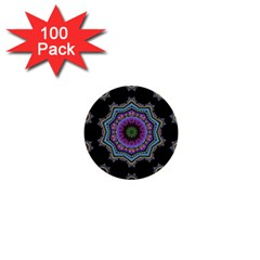 Fractal Lace 1  Mini Buttons (100 Pack)  by Simbadda