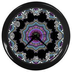 Fractal Lace Wall Clocks (black) by Simbadda