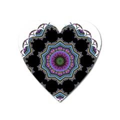 Fractal Lace Heart Magnet by Simbadda