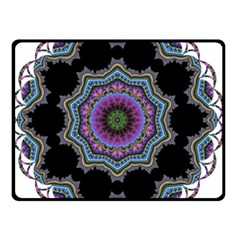 Fractal Lace Double Sided Fleece Blanket (small)  by Simbadda
