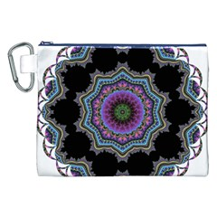 Fractal Lace Canvas Cosmetic Bag (xxl) by Simbadda