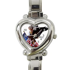 Independence Day United States Heart Italian Charm Watch by Simbadda