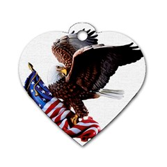 Independence Day United States Dog Tag Heart (one Side) by Simbadda