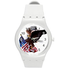 Independence Day United States Round Plastic Sport Watch (m) by Simbadda
