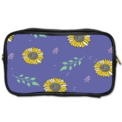 Floral Flower Rose Sunflower Star Leaf Pink Green Blue Yelllow Toiletries Bags by Alisyart
