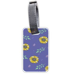 Floral Flower Rose Sunflower Star Leaf Pink Green Blue Yelllow Luggage Tags (two Sides) by Alisyart