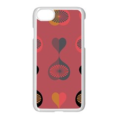 Heart Love Fan Circle Pink Blue Black Orange Apple Iphone 7 Seamless Case (white) by Alisyart