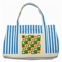 Ireland Leaf Vegetables Green Orange White Striped Blue Tote Bag by Alisyart