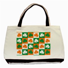 Ireland Leaf Vegetables Green Orange White Basic Tote Bag (two Sides) by Alisyart