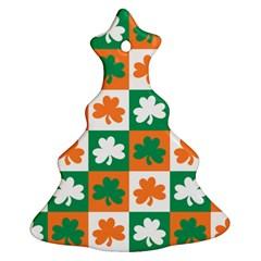Ireland Leaf Vegetables Green Orange White Christmas Tree Ornament (two Sides) by Alisyart