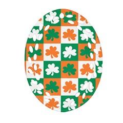 Ireland Leaf Vegetables Green Orange White Oval Filigree Ornament (two Sides) by Alisyart