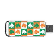 Ireland Leaf Vegetables Green Orange White Portable Usb Flash (one Side) by Alisyart