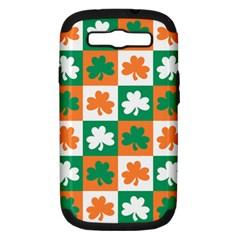 Ireland Leaf Vegetables Green Orange White Samsung Galaxy S III Hardshell Case (PC+Silicone) by Alisyart