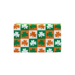 Ireland Leaf Vegetables Green Orange White Cosmetic Bag (xs) by Alisyart