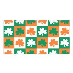 Ireland Leaf Vegetables Green Orange White Satin Shawl by Alisyart