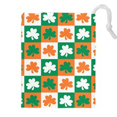 Ireland Leaf Vegetables Green Orange White Drawstring Pouches (xxl) by Alisyart
