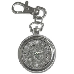 Flower Floral Rose Sunflower Black White Key Chain Watches by Alisyart