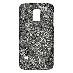 Flower Floral Rose Sunflower Black White Galaxy S5 Mini by Alisyart