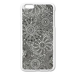 Flower Floral Rose Sunflower Black White Apple Iphone 6 Plus/6s Plus Enamel White Case by Alisyart