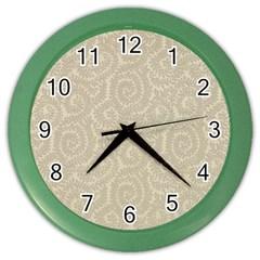 Leaf Grey Frame Color Wall Clocks by Alisyart