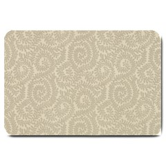 Leaf Grey Frame Large Doormat  by Alisyart