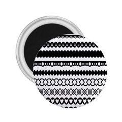 Love Heart Triangle Circle Black White 2 25  Magnets by Alisyart