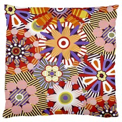 Flower Floral Sunflower Rainbow Frame Large Cushion Case (two Sides) by Alisyart