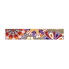 Flower Floral Sunflower Rainbow Frame Flano Scarf (mini) by Alisyart