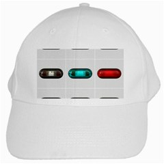 9 Power Button White Cap