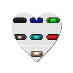 9 Power Button Heart Magnet by Simbadda