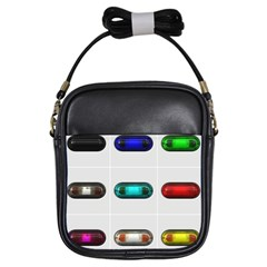 9 Power Button Girls Sling Bags by Simbadda