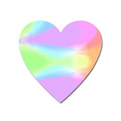 Abstract Background Colorful Heart Magnet by Simbadda