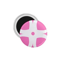 Love Heart Valentine Pink White Sweet 1 75  Magnets by Alisyart